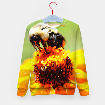 Bee On A Flower Kid's sweater thumbnail image