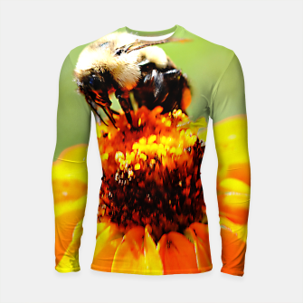 Bee On A Flower Longsleeve rashguard  thumbnail image