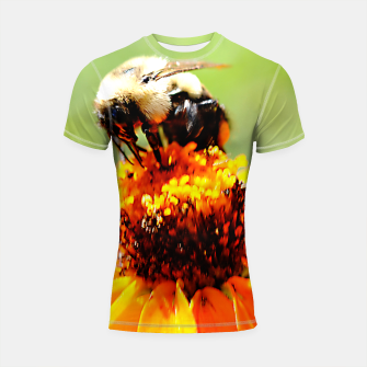 Bee On A Flower Shortsleeve rashguard thumbnail image