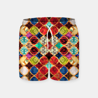 Miniatur HQ Traditional Heritage Islamic Moroccan Tiles Styles Design Swim Shorts, Live Heroes