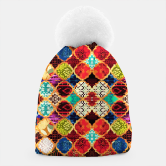 Thumbnail image of HQ Traditional Heritage Islamic Moroccan Tiles Styles Design Beanie, Live Heroes
