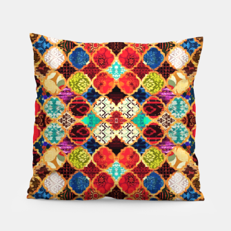 Thumbnail image of HQ Traditional Heritage Islamic Moroccan Tiles Styles Design Pillow, Live Heroes