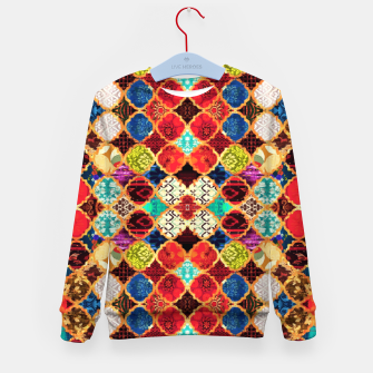 HQ Traditional Heritage Islamic Moroccan Tiles Styles Design Kid's sweater thumbnail image