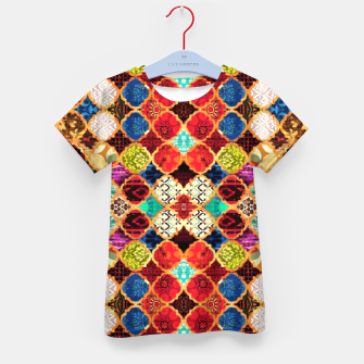 HQ Traditional Heritage Islamic Moroccan Tiles Styles Design Kid's t-shirt thumbnail image