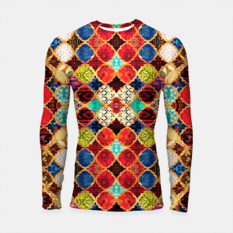 Miniatur HQ Traditional Heritage Islamic Moroccan Tiles Styles Design Longsleeve rashguard , Live Heroes