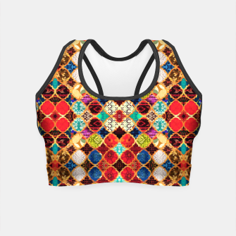 HQ Traditional Heritage Islamic Moroccan Tiles Styles Design Crop Top thumbnail image