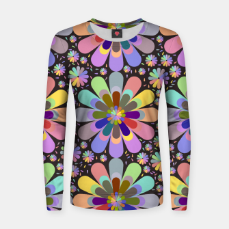 Thumbnail image of zappwaits flower Women sweater, Live Heroes