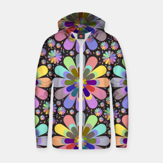 Thumbnail image of zappwaits flower Zip up hoodie, Live Heroes
