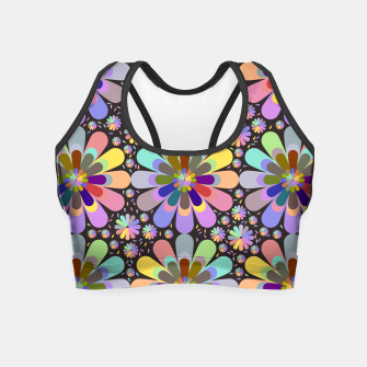 Thumbnail image of zappwaits flower Crop Top, Live Heroes