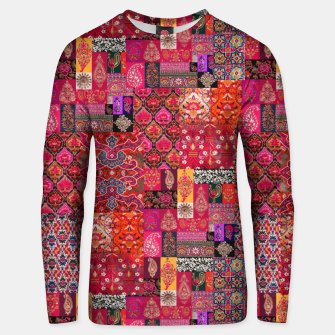 Miniatur Bohemian Vintage Oriental Traditional Moroccan Collage Artwork Unisex sweater, Live Heroes