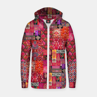 Thumbnail image of Bohemian Vintage Oriental Traditional Moroccan Collage Artwork Zip up hoodie, Live Heroes