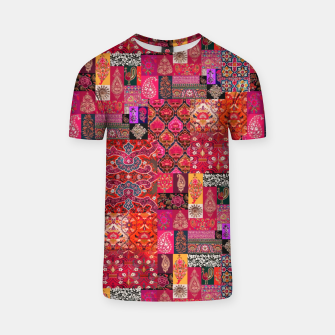 Miniatur Bohemian Vintage Oriental Traditional Moroccan Collage Artwork T-shirt, Live Heroes