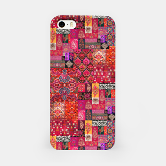 Miniatur Bohemian Vintage Oriental Traditional Moroccan Collage Artwork iPhone Case, Live Heroes