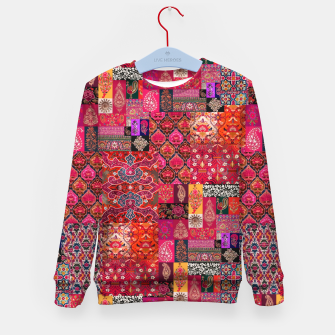 Miniatur Bohemian Vintage Oriental Traditional Moroccan Collage Artwork Kid's sweater, Live Heroes