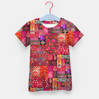 Miniatur Bohemian Vintage Oriental Traditional Moroccan Collage Artwork Kid's t-shirt, Live Heroes