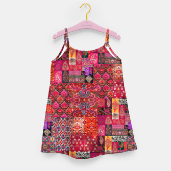 Miniatur Bohemian Vintage Oriental Traditional Moroccan Collage Artwork Girl's dress, Live Heroes