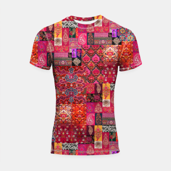 Thumbnail image of Bohemian Vintage Oriental Traditional Moroccan Collage Artwork Shortsleeve rashguard, Live Heroes