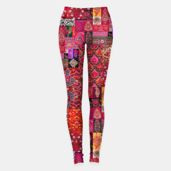 Thumbnail image of Bohemian Vintage Oriental Traditional Moroccan Collage Artwork Leggings, Live Heroes