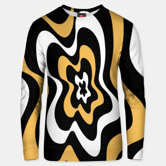 Miniatur Abstract pattern - bronze, black and white. Unisex sweater, Live Heroes