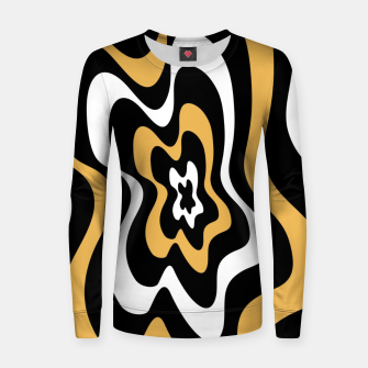 Miniatur Abstract pattern - bronze, black and white. Women sweater, Live Heroes