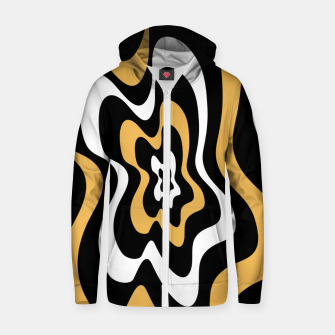 Miniatur Abstract pattern - bronze, black and white. Zip up hoodie, Live Heroes