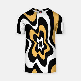 Miniatur Abstract pattern - bronze, black and white. T-shirt, Live Heroes