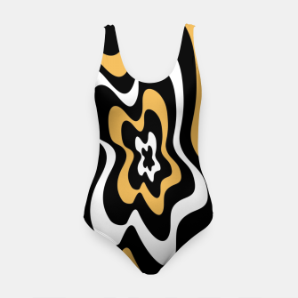 Miniatur Abstract pattern - bronze, black and white. Swimsuit, Live Heroes