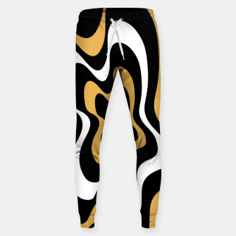 Miniatur Abstract pattern - bronze, black and white. Sweatpants, Live Heroes