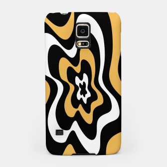 Miniatur Abstract pattern - bronze, black and white. Samsung Case, Live Heroes