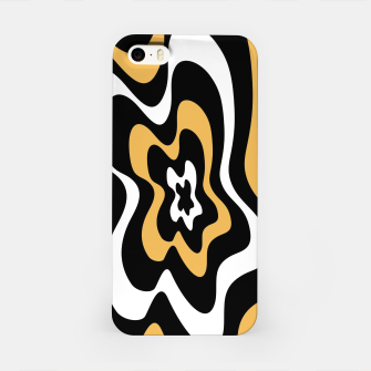 Miniatur Abstract pattern - bronze, black and white. iPhone Case, Live Heroes