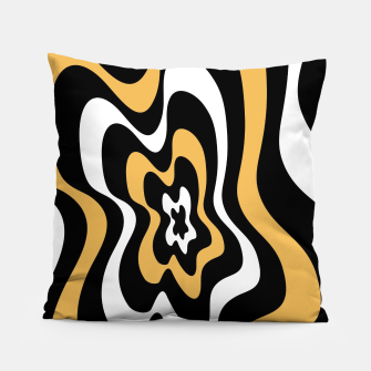 Miniatur Abstract pattern - bronze, black and white. Pillow, Live Heroes