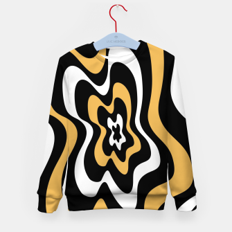 Miniatur Abstract pattern - bronze, black and white. Kid's sweater, Live Heroes