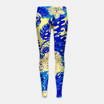 Miniature de image de Golden Greens Leggings para niña, Live Heroes