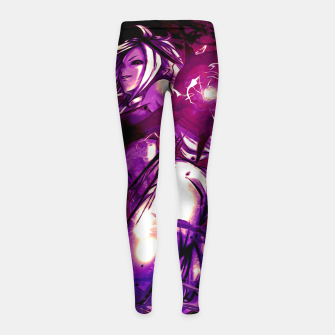 Thumbnail image of Purple Android Leggings para niña, Live Heroes