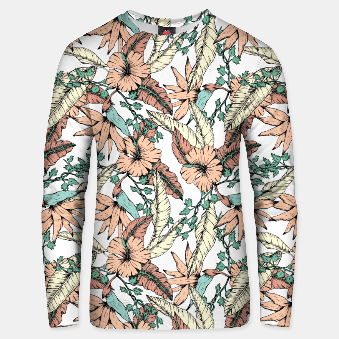 Image of Floral tropic terracotta 01 Sudadera unisex - Live Heroes