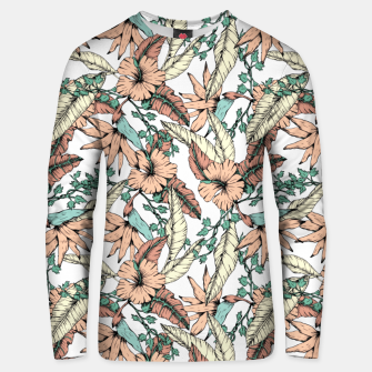 Floral tropic terracotta 01 Sudadera unisex thumbnail image