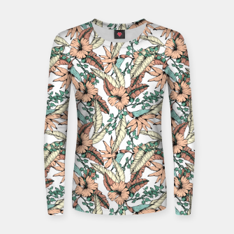 Miniatur Floral tropic terracotta 01 Sudadera para mujeres, Live Heroes