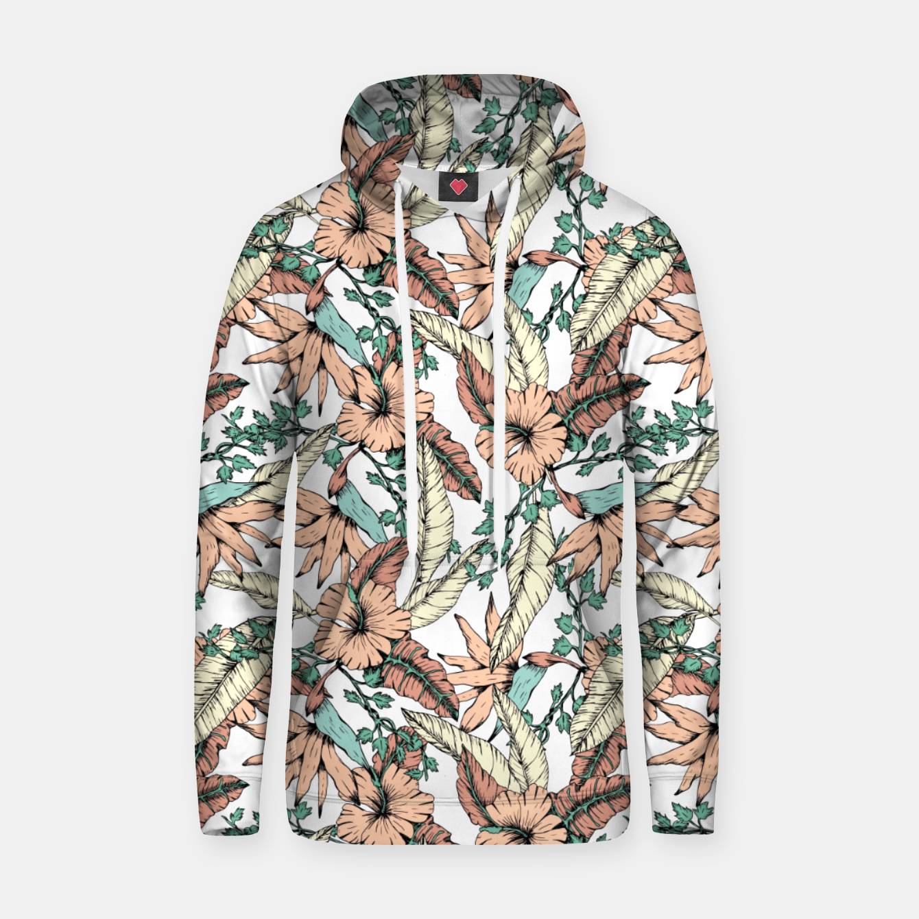 Image of Floral tropic terracotta 01 Sudadera con capucha - Live Heroes