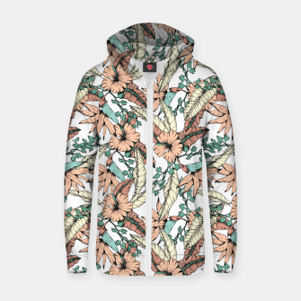 Thumbnail image of Floral tropic terracotta 01 Sudadera con capucha y cremallera , Live Heroes
