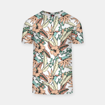 Floral tropic terracotta 01 Camiseta miniature
