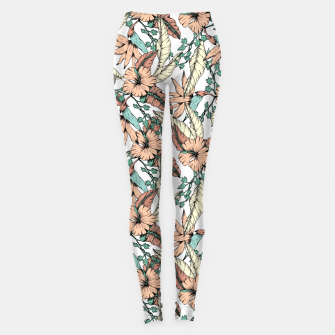 Thumbnail image of Floral tropic terracotta 01 Leggings, Live Heroes