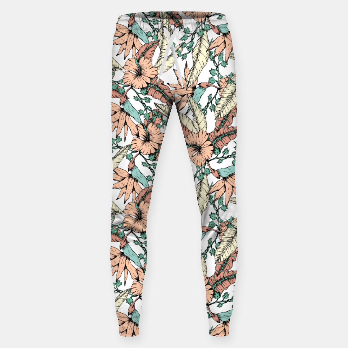 Image of Floral tropic terracotta 01 Pantalones de chándal  - Live Heroes