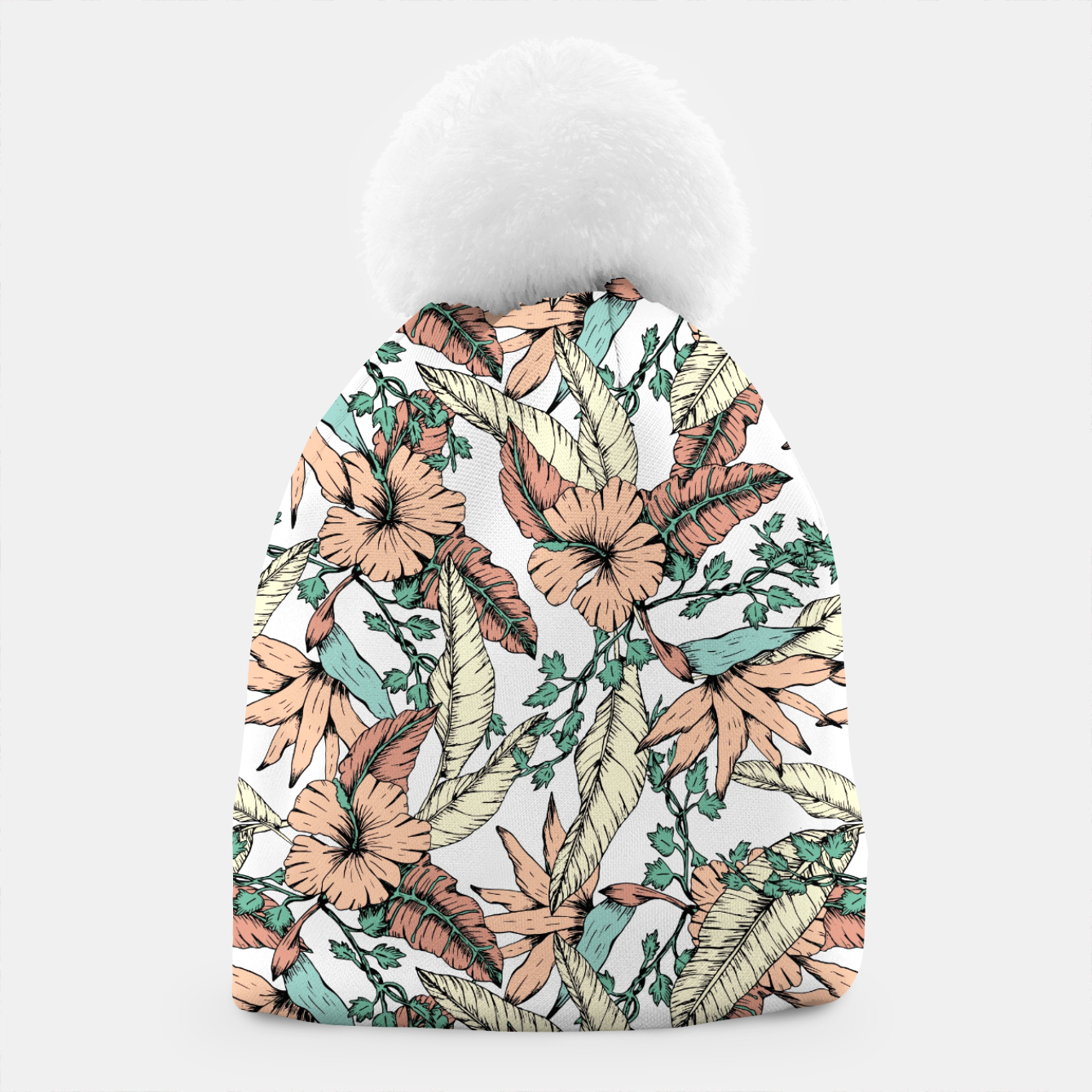 Image of Floral tropic terracotta 01 Gorro - Live Heroes