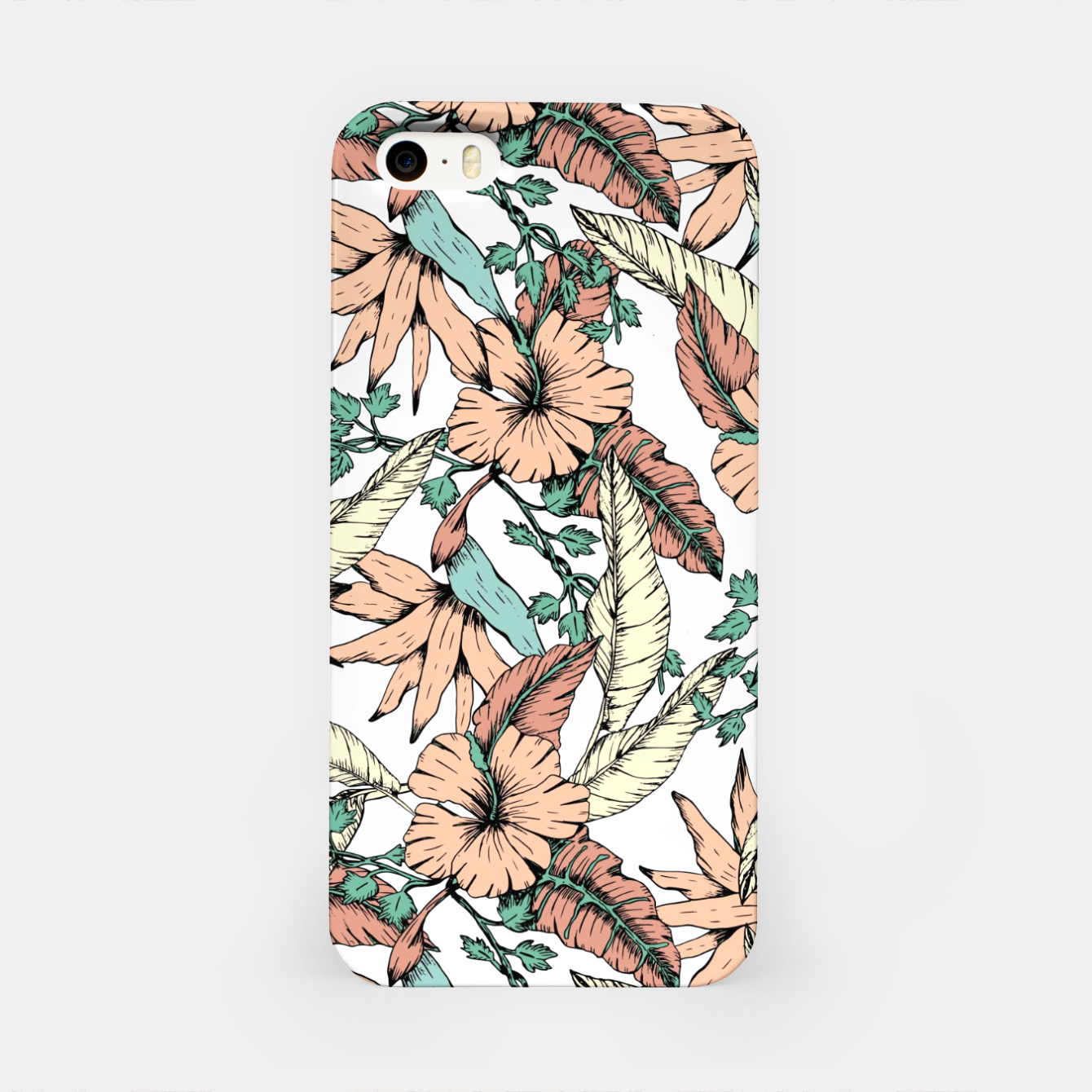 Image of Floral tropic terracotta 01 Carcasa por Iphone - Live Heroes