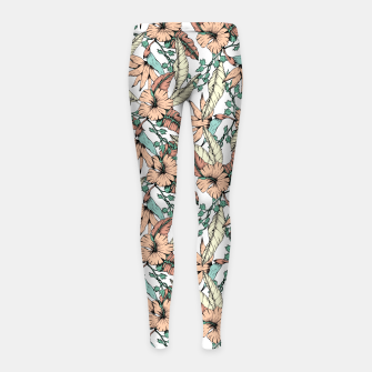Floral tropic terracotta 01 Leggings para niña miniature