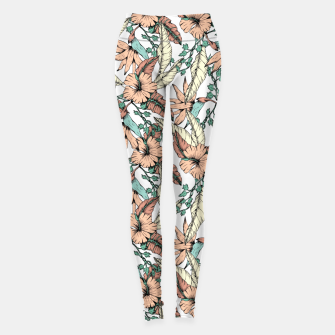 Floral tropic terracotta 01 Leggings thumbnail image