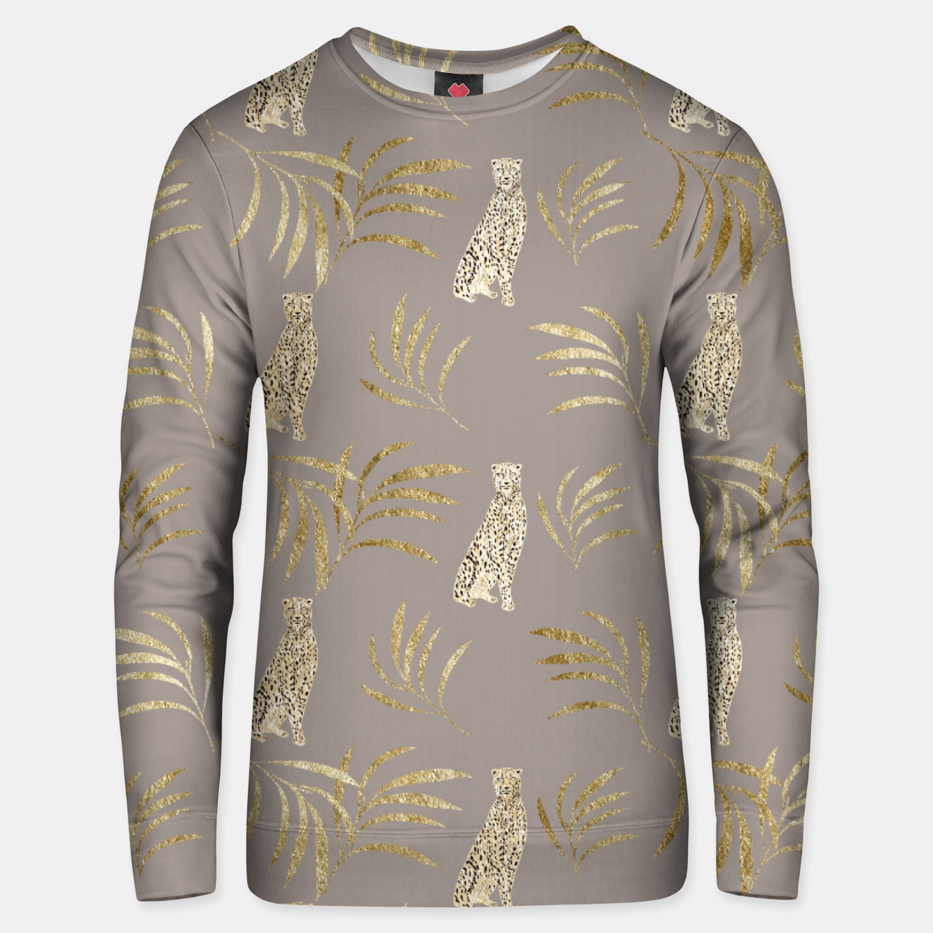 Zdjęcie Cheetah Eucalyptus Glam Pattern #8 #tropical #decor #art Unisex sweatshirt - Live Heroes