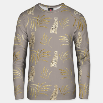 Cheetah Eucalyptus Glam Pattern #8 #tropical #decor #art Unisex sweatshirt obraz miniatury