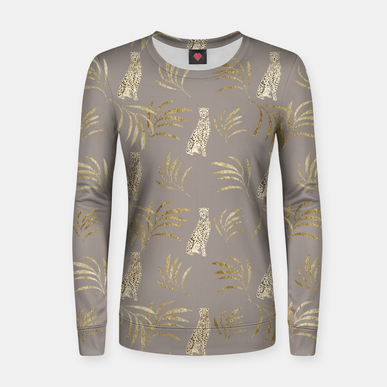 Zdjęcie Cheetah Eucalyptus Glam Pattern #8 #tropical #decor #art Frauen sweatshirt - Live Heroes