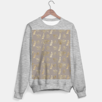 Cheetah Eucalyptus Glam Pattern #8 #tropical #decor #art Sweatshirt regulär obraz miniatury